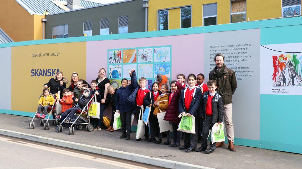 Local children brighten up our site