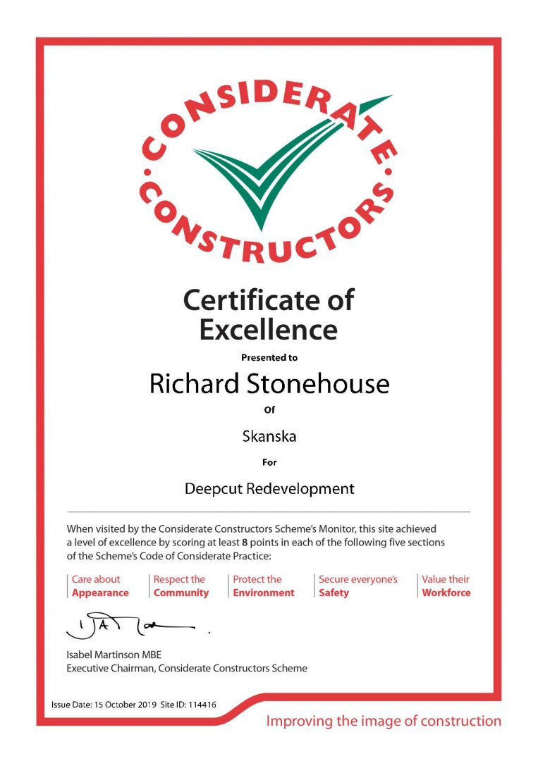 Certificate of Excellence 114416